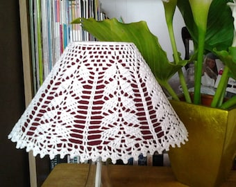 Crocheted LampShade cover - A willow