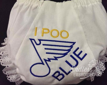 St Louis Blues Baby Bloomers