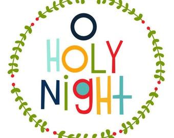 O Holy Night Christmas Print 8x10