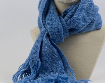 Handwoven Scarf - Merino/Silk Blended Wood