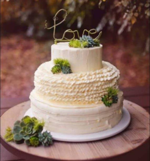 Rustikale Liebe Wald Hochzeitstorte Topper Etsy