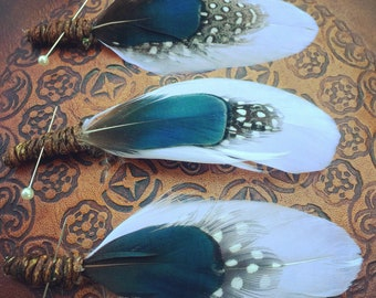 Free Shipping Indian Relics Feather Boutonnieres