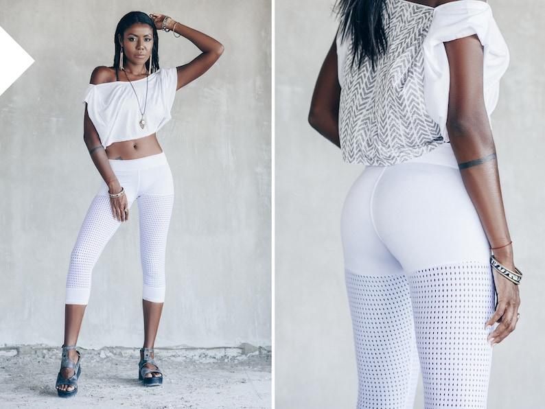 a86c878250ae White Leggings Summer Yoga Pants White Outfit Festival | Etsy