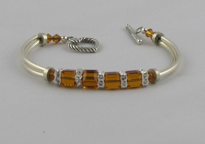 Topaz Crystal Bangle Bracelet image 0