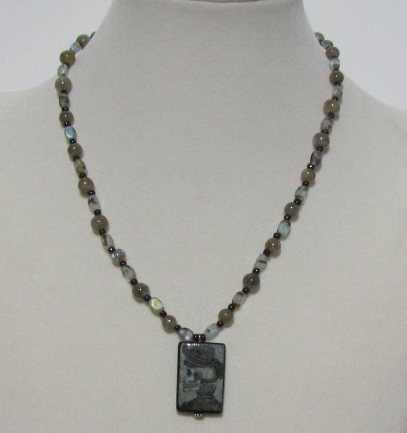 Day of the Dead Labradorite Necklace image 0