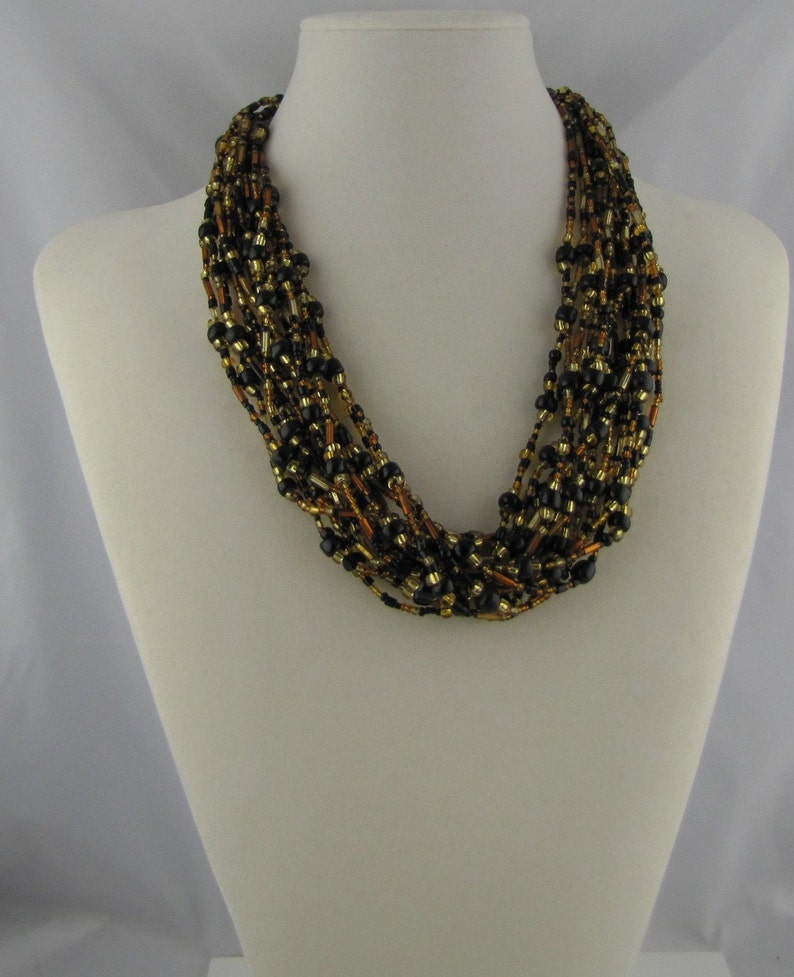 Black and Gold Necklace image 0