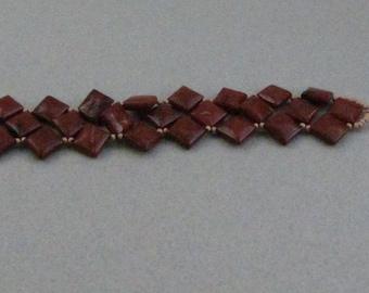 Red Jasper Mosaic Bracelet