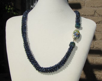Lapis Lazuli Kumihimo Necklace