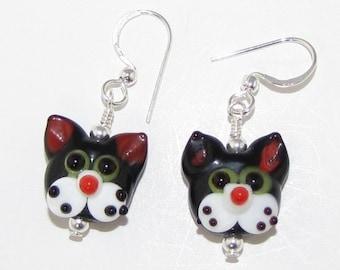Kitty Cat Lamp Work Earrings
