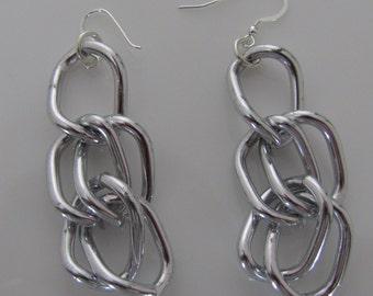 Aluminum Chain  Earrings
