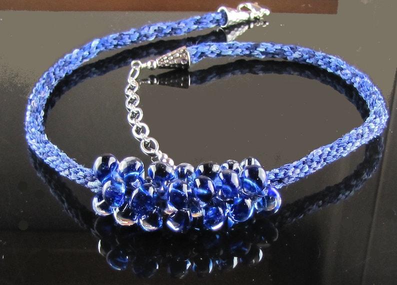Kumihimo Shades of Blue Necklace image 0