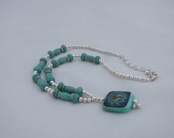 Triplet Om Bead Necklace