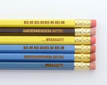 It's So Minions I'm Gonna Die Despicable Me I Love Minions Gru Inspired 6 Pencils Pack