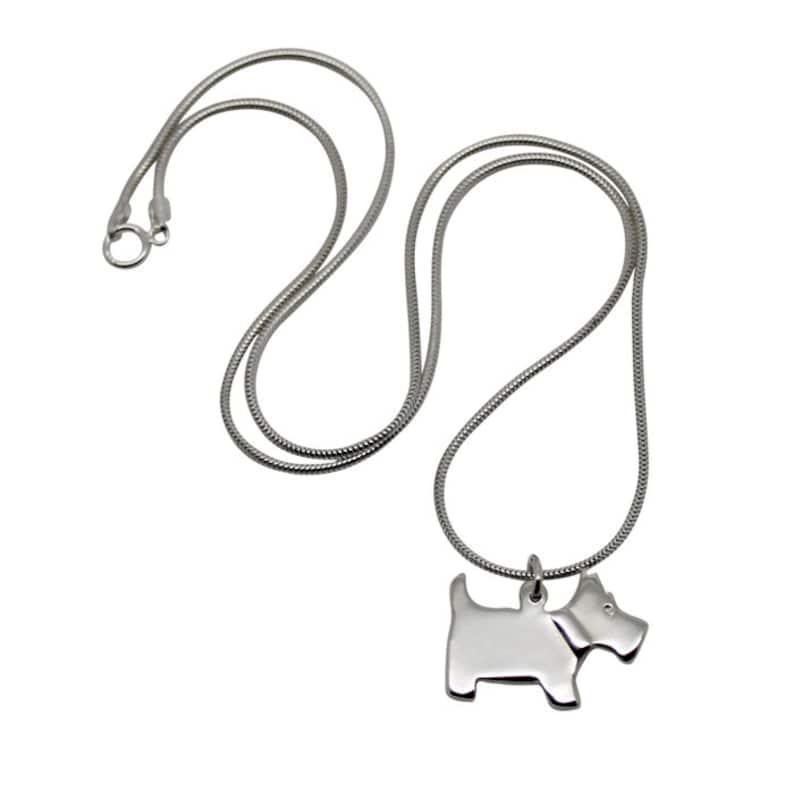 Scottie Dog Necklace Silver Scottie Dog Scotish Dog Scottie
