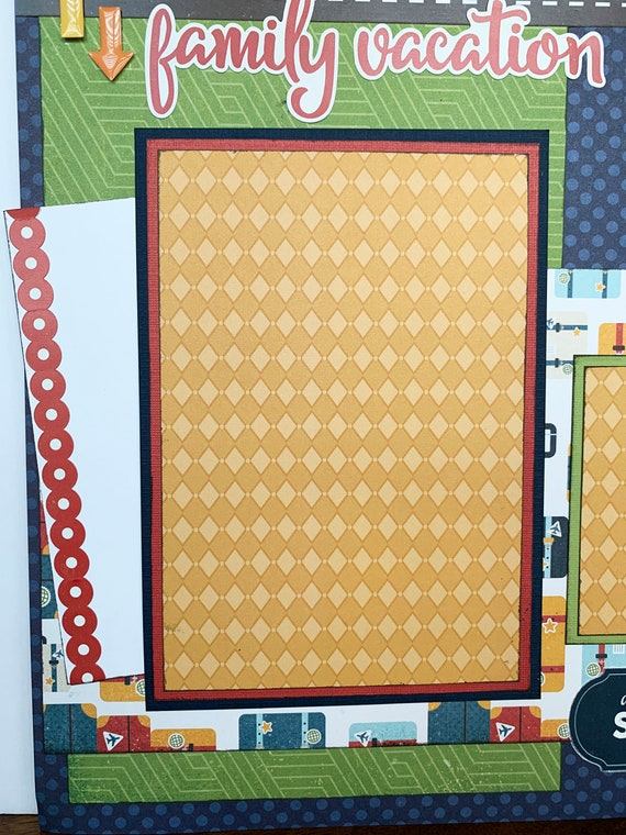 The Places We Go Kit 12x12 Scrapbook Page Kit Memory Keeping Collection Scrapbook Kit Road Trip Explore Adventure Lisa Bearnson