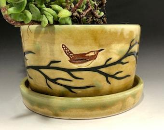 Marsh Wren Pottery Bowl Made to Order