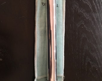 Vintage Tiffany and Co Sterling Silver Cigar Tube c1970 in Original Pouch and Box