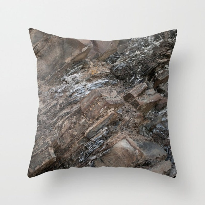 Rock Throw Pillow Cover to Accent the Cottage Living Room Sofa image 0