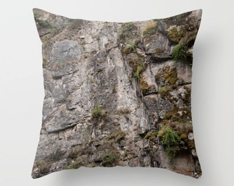 Mountain Lodge Decor, Abstract Pillow Cover, Rustic Cushion Case, Earthy Sofa Accent, Canadian Rocky Mountains, Pillows for a Cabin
