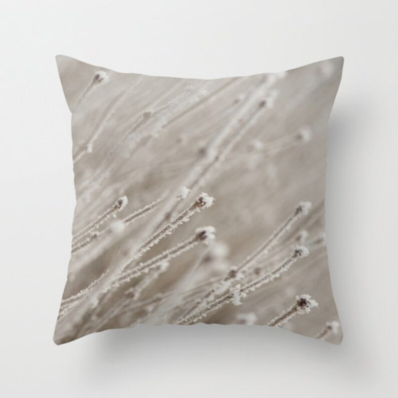 Hoarfrost Throw Cushion Cover to Accent the Entrance Bench for image 0