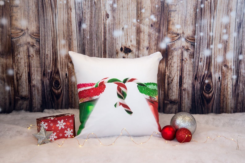 Christmas Pillow Covers Holiday Cushion Case Festive Office image 0