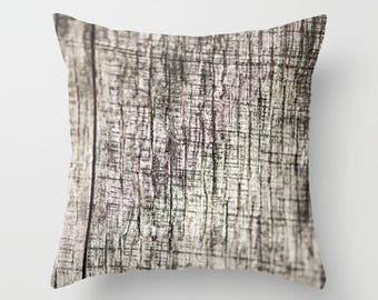 Wood Grain Fabric Pillow Cover, Lodge Decor, Abstract Pillow Cover, Rustic Cushion Case, Cabin Sofa Accent, Macro Photography, Textured Look