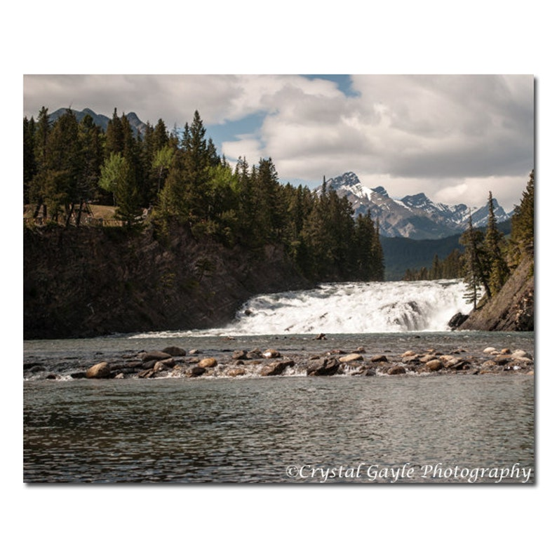 Bow Falls Print Canadian Waterscape Photography Bow River image 0