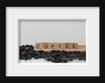 Coffee Kitchen Art - Fine Art Photography Print, Kitchen Wall Accent, Brown Wood, Unframed Foodie Gift for Mom, Birthday Present for Father