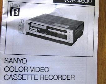 sanyo vcr service manual