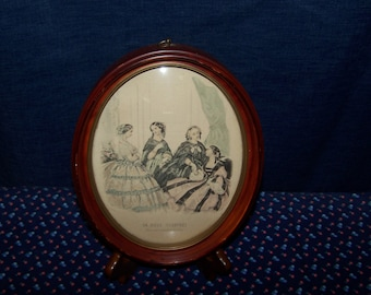 Framed French Fashion Plate