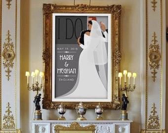 Meghan & Harry Royal Wedding Poster