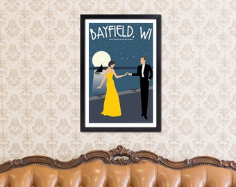 Lake Superior Shore Towns Series: Art Deco Bayfield, WI Travel Prints
