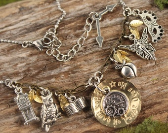 Labyrinth Inspired Charm Necklace