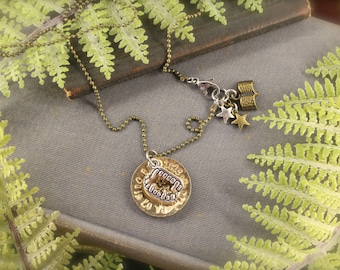 Enola Inspired The Future Is Up To Us Suffragette Vintage Charm Necklace