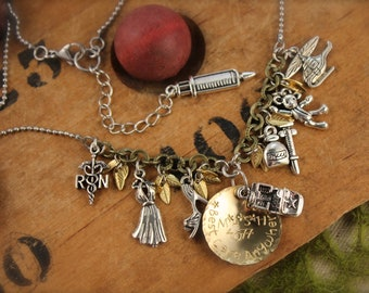 MASH Inspired Helicopter Army Charm Necklace