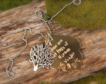Tree Days of Miracle and Wonder Simon Inspired Necklace