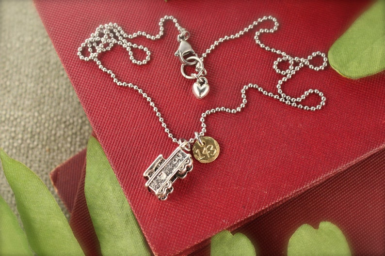 Mister Rogers Inspired 143 Trolley Love Charm Necklace
