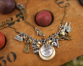 MASH Inspired Army Helicopter Charm Necklace