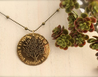 Tree Life is a Daring Adventure Charm Necklace