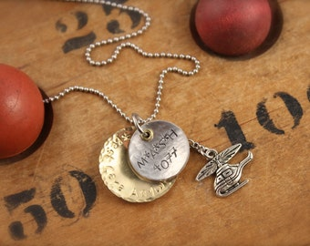 MASH Inspired Army Helicopter Doctor Charm Necklace