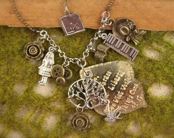 Little Women Inspired Jo Charm Necklace