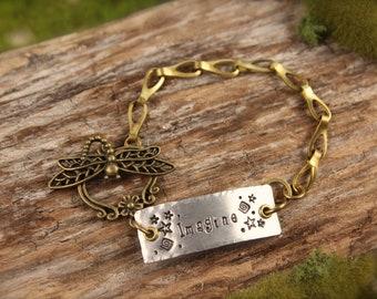 SALE Dragonfly Imagine Star Bracelet