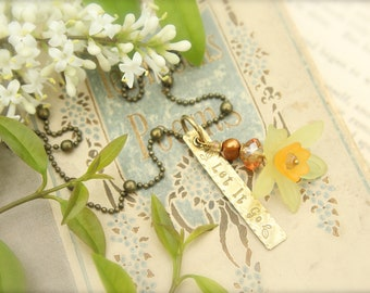 Spring Flower Daffodil Let It Go Necklace