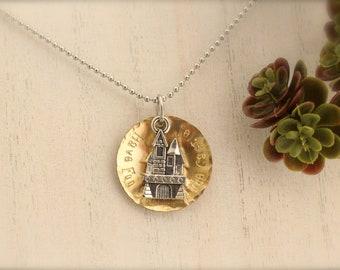 Princess Bride Inspired Castle Charm Necklace