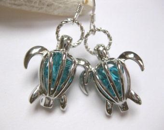 Birthstone earrings Boho earrings dangle drop  earrings swarovski crystal earrings turtle earrings birthstone earrings