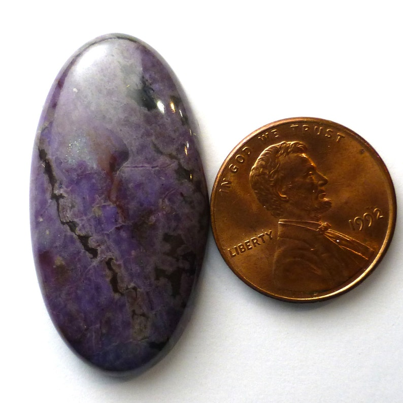 Sugilite Cabochon Modified Oval Rare Old Stock Lavender Purple AAA Grade Sugalite sugelite one of a kind handcut lapidary Lisajoy Sachs