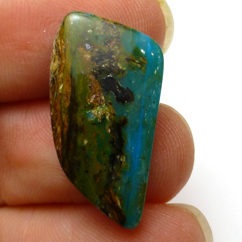 Peruvian Blue Opal Cabochon Bright Blue Modeling Very Small Dainty AAA Quality Perfect Size for a rRng Jewelry Turquoise