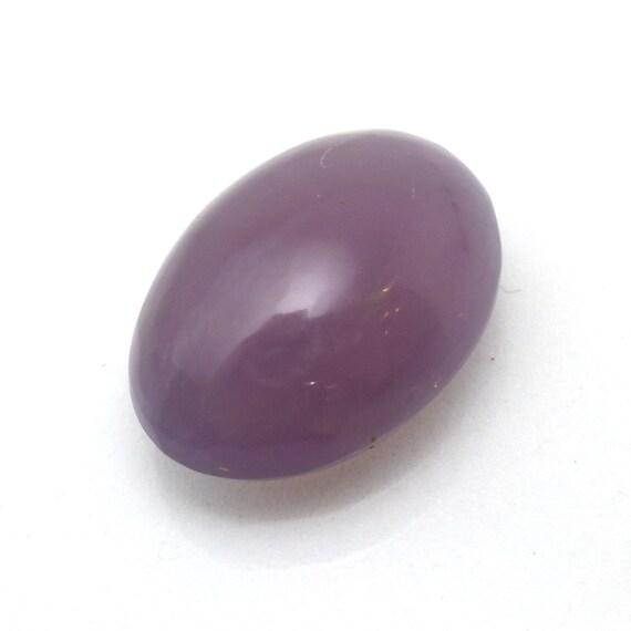 36x6 mm Loose Gemstone  I-751 Purple Chalcedony Cabochon  Purple Chalcedony Gemstone  Round Shape  72.75 ct