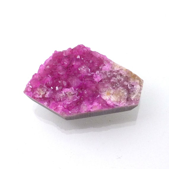 Pink Druzy Cabochon Cobalt Calcite Geometric Cobalto Natural Color Not Dyed Lisajoy Sachs Designer Hand Cut Cobaltoan Carbonate Crystals