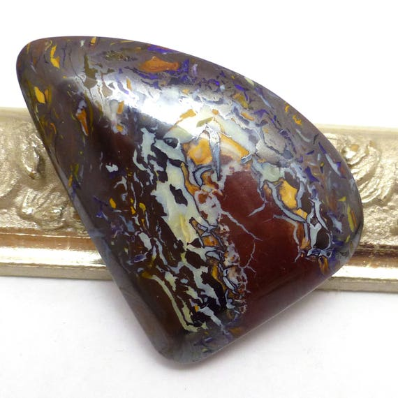 Items Similar To Opal Ring Exquisite Braided Opal: Items Similar To Boulder Opal Cabochon Koroit Yowah